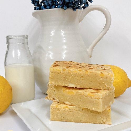 Lemon Curd Blondies Slab