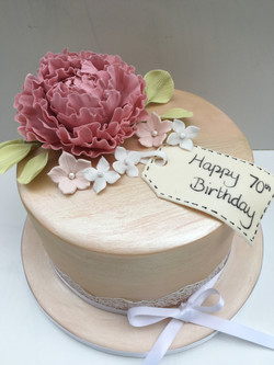 Vintage Peony Cake