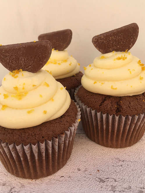 Chocolate Orange Gluten Free Cupcake