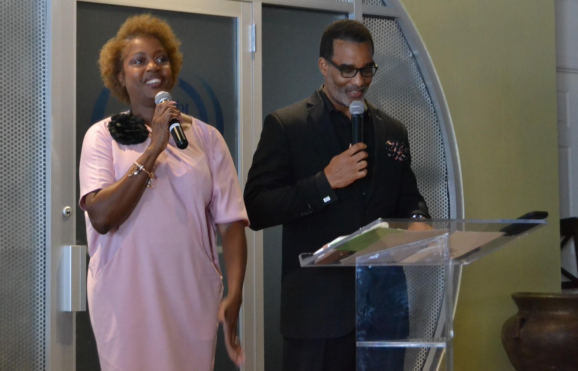 Derrick n Sonya preaching