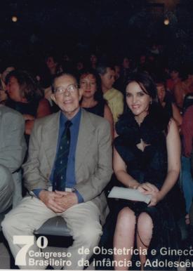 Prof. Álvaro Bastos e Zuleide Cabral no plenário