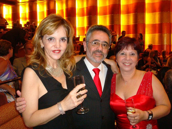 Zuleide, Flavio e Denise na Festa de Gala