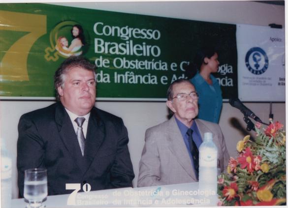 Gerson Lopes e prof. Álvaro Bastos na Sessão Solene de Abertura