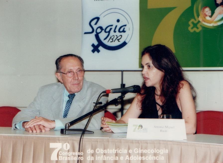 Zuleide com Ruoti em Conferência durante o Congresso