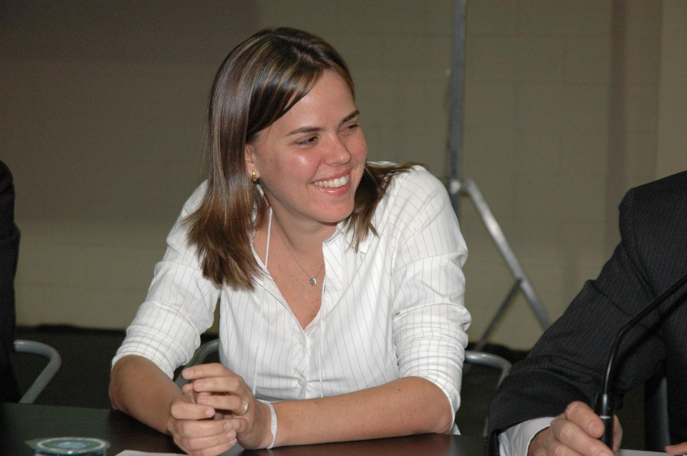 Nossa delegada Erika Krogh, sorridente