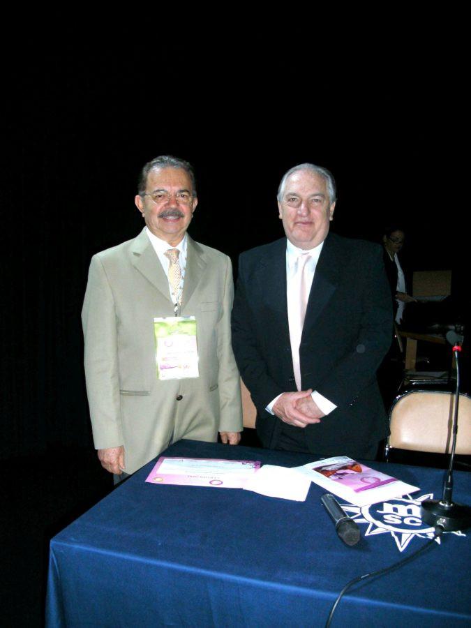 Jose Alcione com o saudoso amigo Andalaft