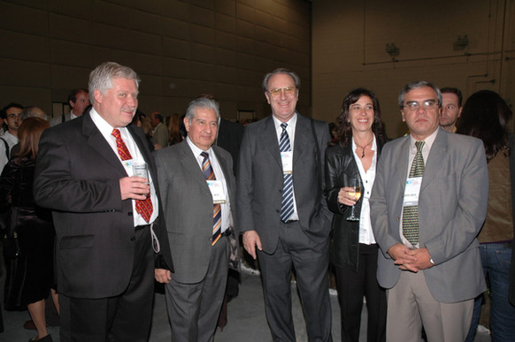 Molina com amigos do Uruguai