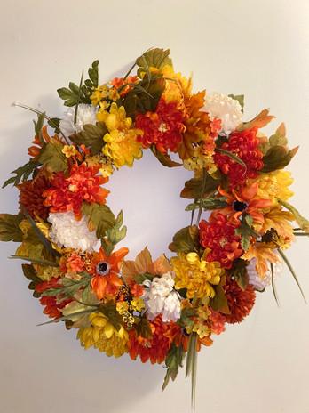 Handmade Custom Autumn Wreath