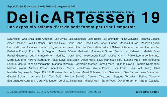Exposición Delicartessen 19 . Galeria Esther Montoriol, Inauguración 23 de Noviembre