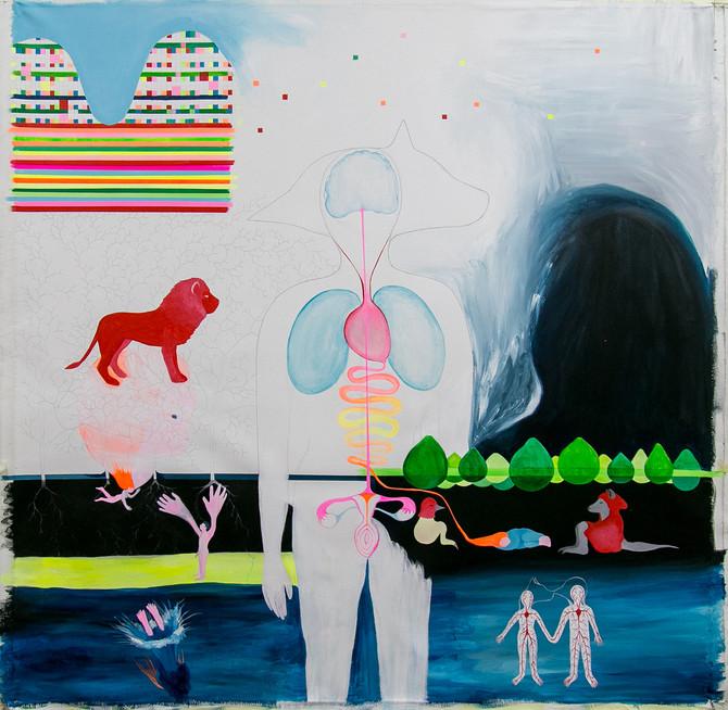 Mi obra La ola seleccionada en el XXIV Premi de pintura Ciutat de Algemesí