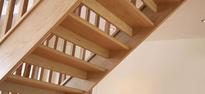 SPC Kitchens open riser oak staircase