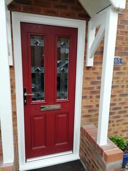 Beautiful Red Composite Door
