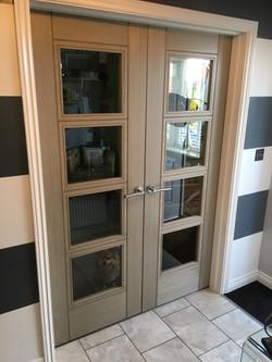 Deanta Light Grey Ash Glazed Doors
