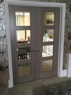 Vancouver Grey Glazed French Doors