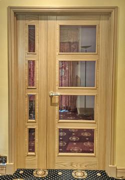 Bespoke Offset Pair of Vancouver Doors