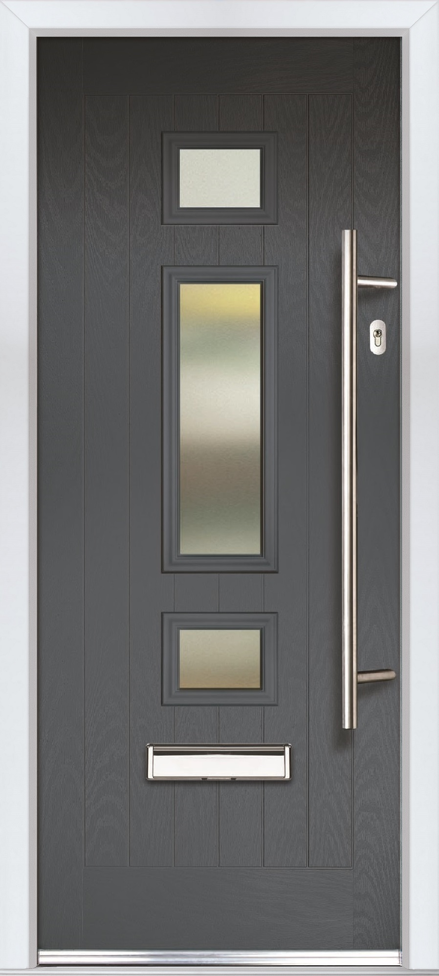 Jacobean Slate Grey Satin Glass