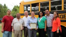 """Donación de camión escolar a la escuela secundaria no.12 """"Héroes del 47"""""""