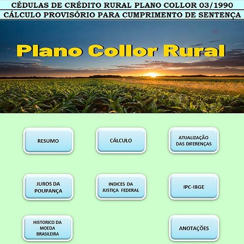 PLANILHA DE CÁLCULO AÇÃO DAS CÉDULAS DE CREDITO COLLOR RURAL 03/1990