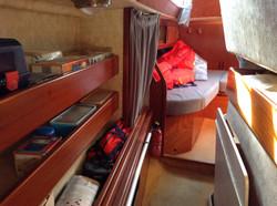 Coursive tribord & cabine arrière