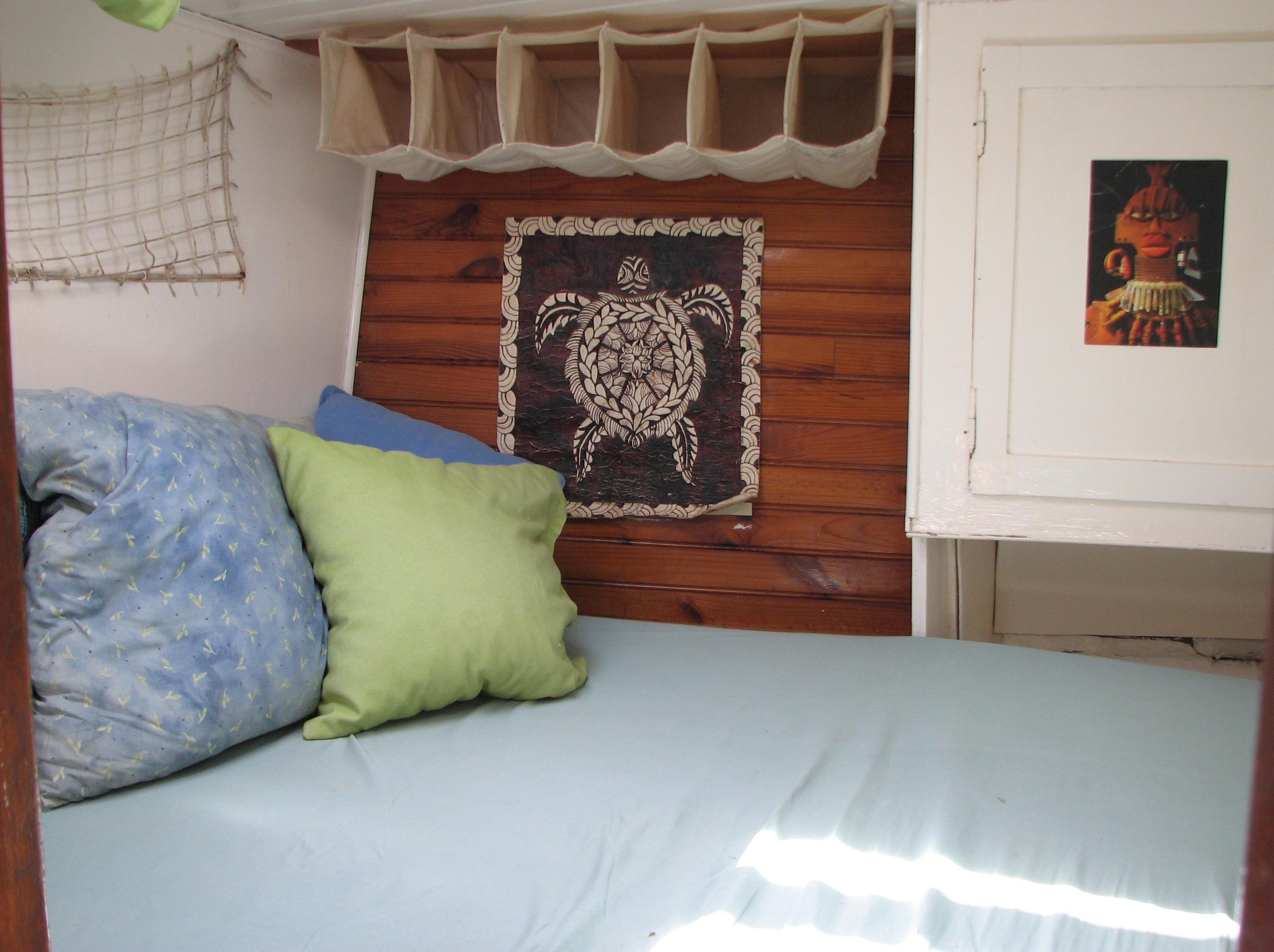 cabine avant lit double