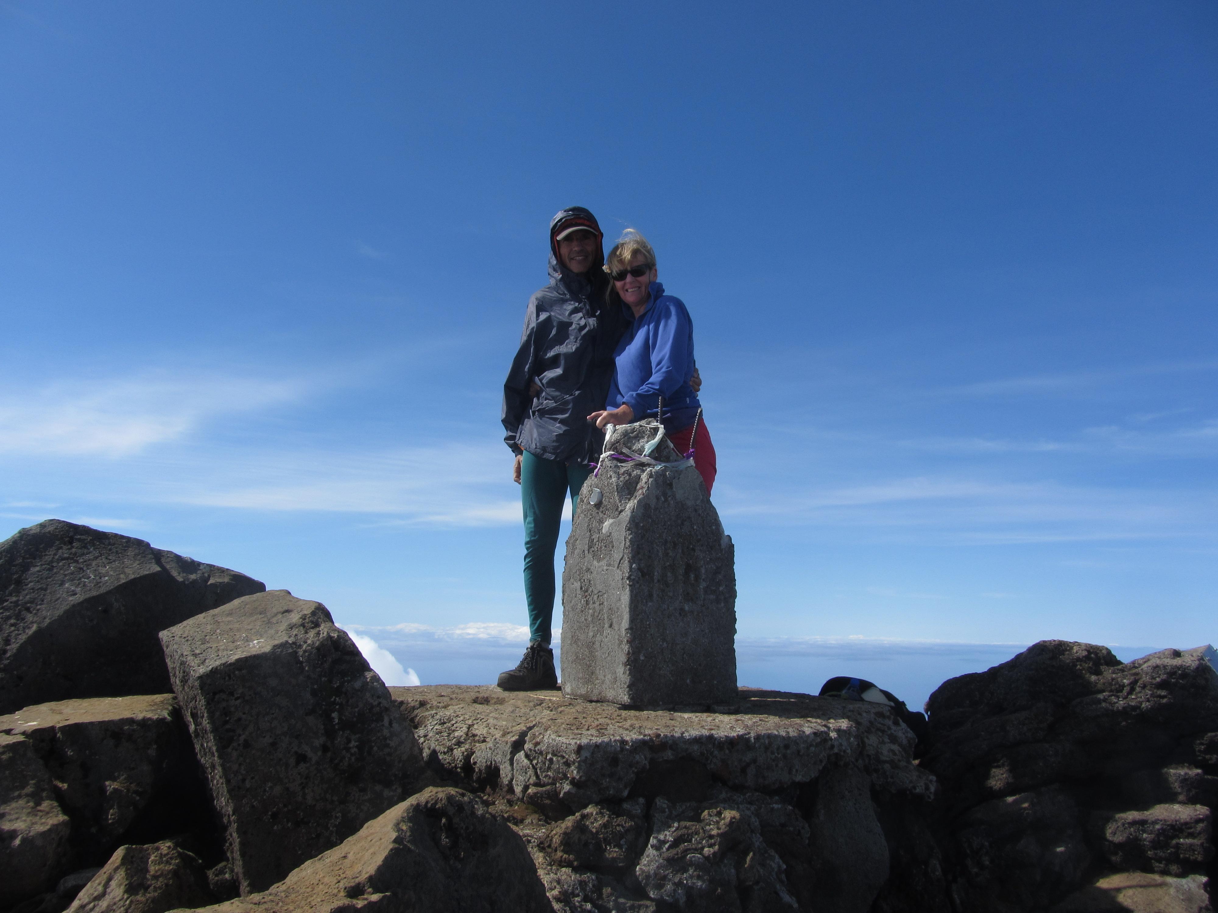 au sommet du volcan Pico 2351 m.