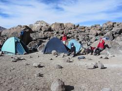camp pour l'ascencion du Chachani