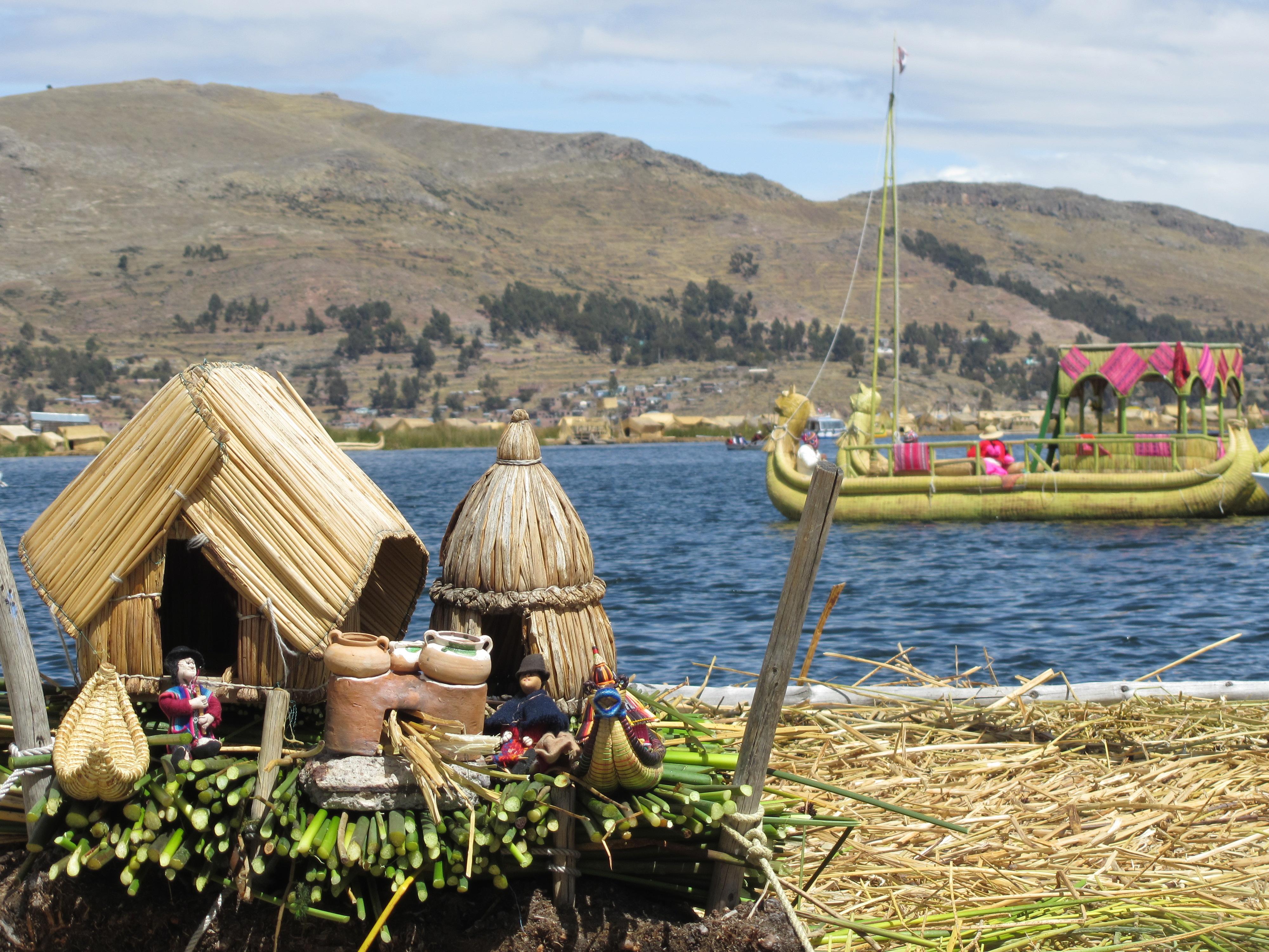 Îles flottantes, lac Titicaca