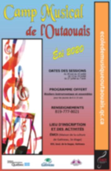 Affiche Camp_Musical_Outaouais 2020 - Co