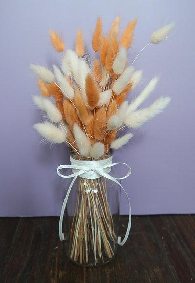 Peach & White Bunny Bottle