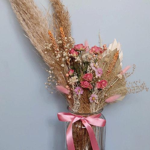 Pink Dried Vase Arrangement