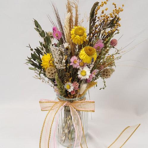 Colourful Dried Vase Arrangement