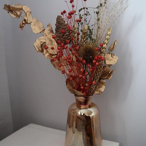 Gold Christmas Bud Vase