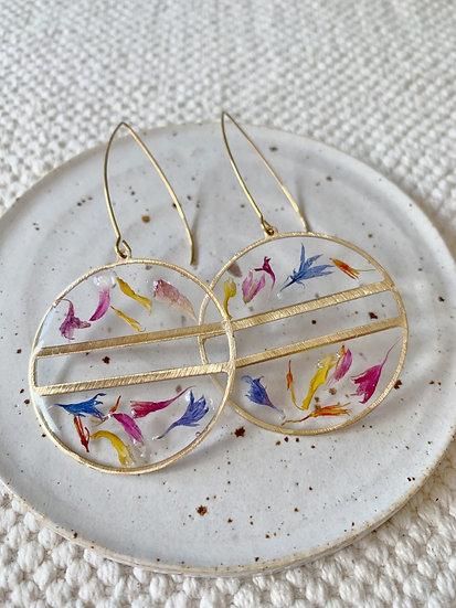 Confetti Hoop Earrings