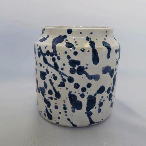Blue Splatter Vase