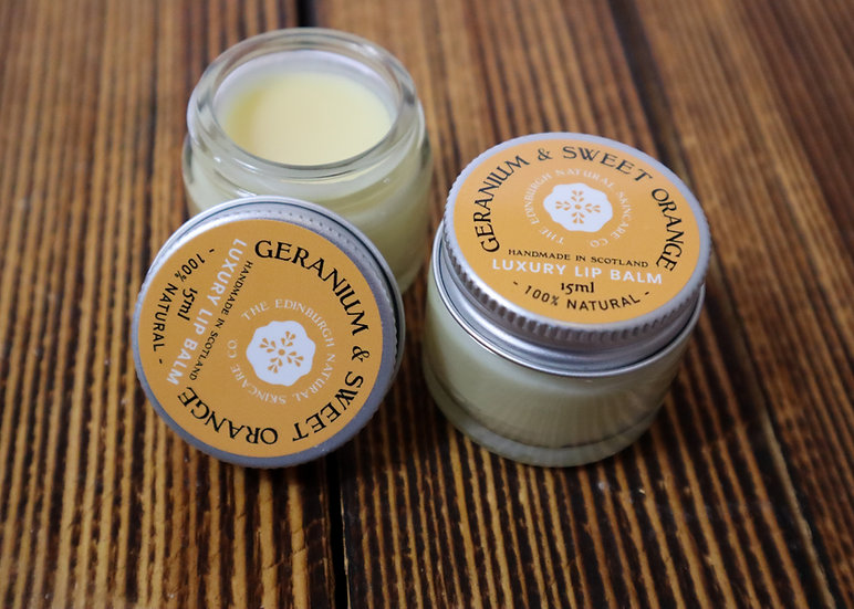 Geranium & Sweet Orange Lip Balm