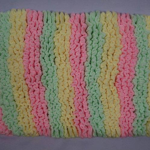 Super Soft Hand-Crocheted Baby Blanket (Multicoloured)
