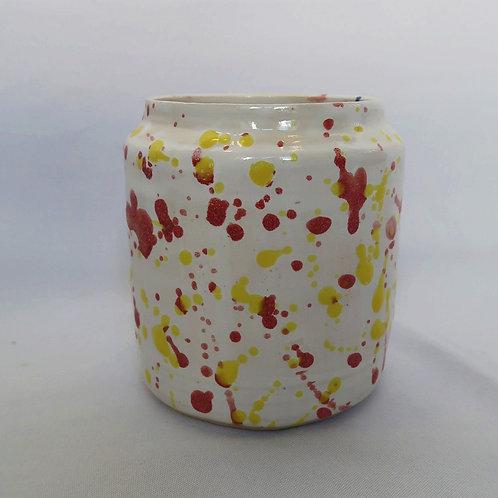Red & Yellow Splatter Vase