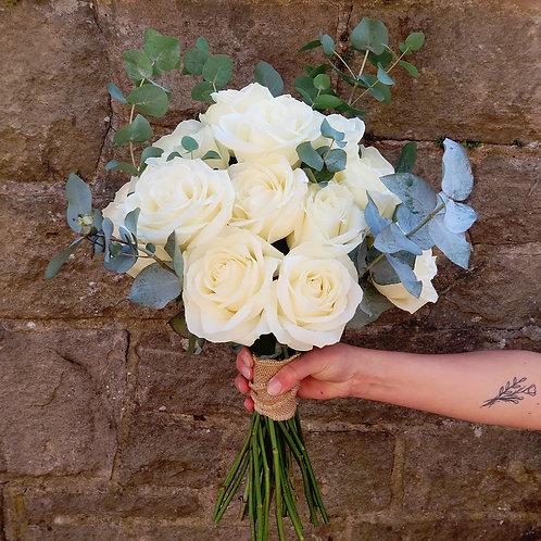 Rose & Eucalyptus Bouquet (Choose Your Colour)