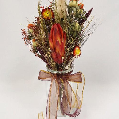 Warm Dried Vase Arrangement