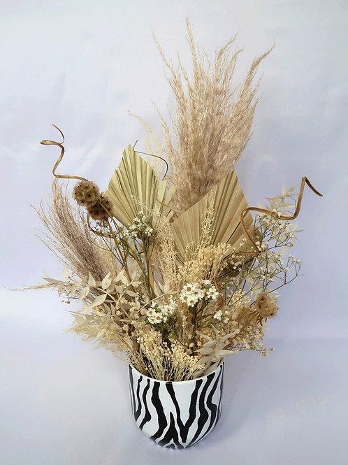 Nude Zebra Vase Arrangement