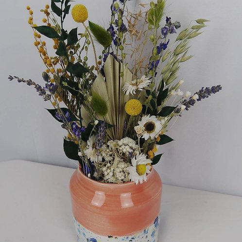 Wild Garden Dried Arrangement in EF Vase