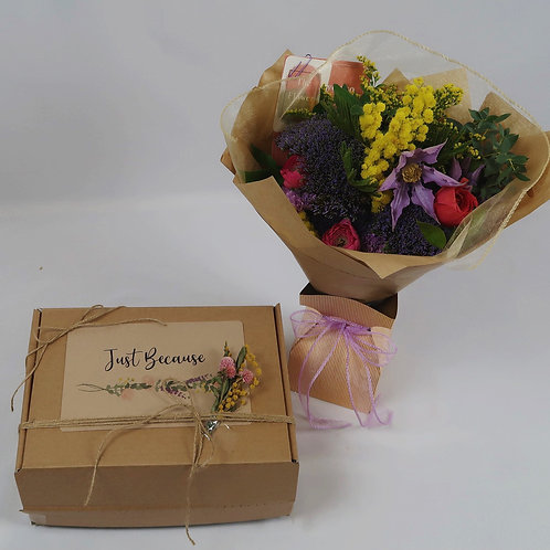 Just Because Gift Box with Flowers