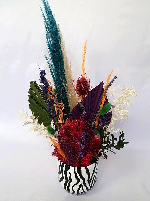 Colourful Zebra Vase Arrangement