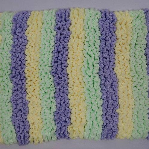Super Soft Hand-Crocheted Baby Blanket (Purple)