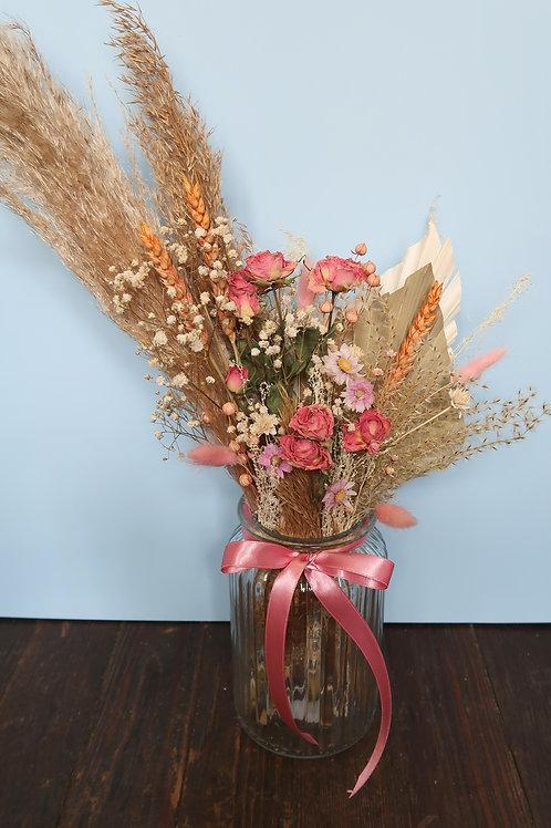 Feeling Pink Glass Vase Arrangement