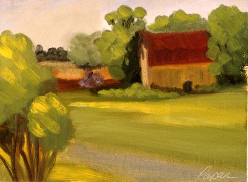 Wisconsin Yellow Barn