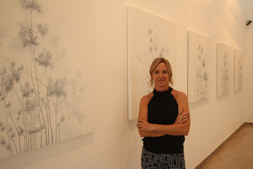 Ana Michaelis na Exposição Jardins