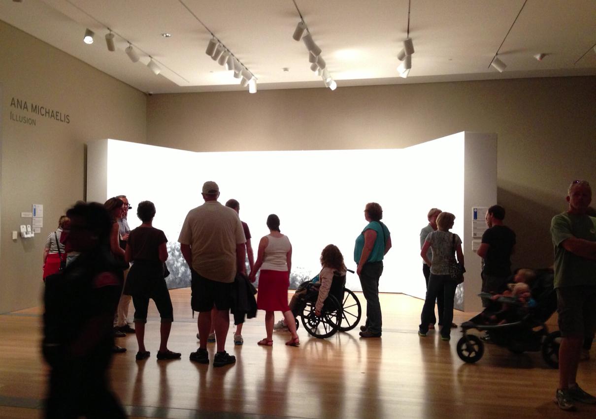 Visitação na exposição no GRAM