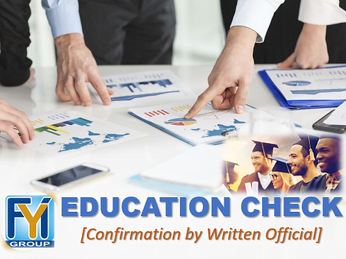 Education Verification [by written]
