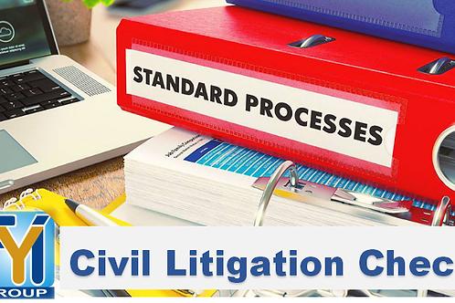 Civil Litigation Record Check